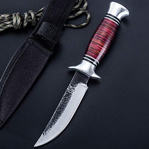 Hobby Hut HH-353 ,Jagdmesser mit Scheide, jagdmesser feststehende klinge (Red)