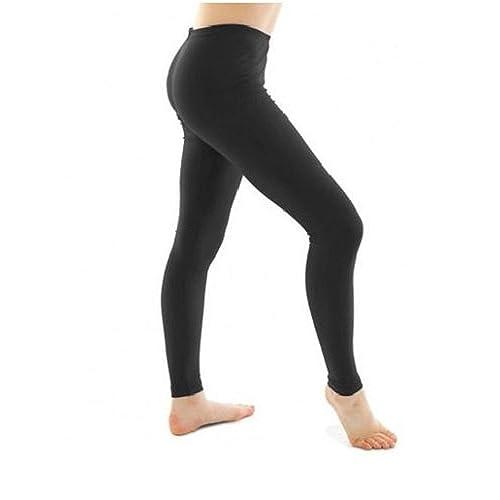 84371c1f1e81d RSVH Girls Children Kids Footless Leggings Ballet Dance Gymnastics Shiny  Nylon Lycra (9-10