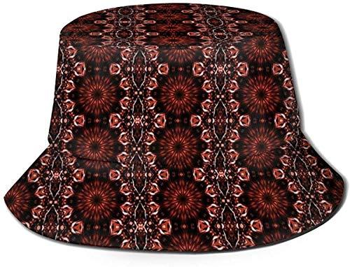 Sombrero de Cubo de Viaje con Estampado de Loto Hermoso Unisex Gorra de Pescador de Verano Sombrero de Sol-Patrón Abstracto
