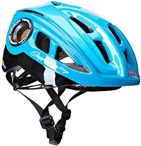 Urge - Casco per Bici, 32000022, Nero/Blu, XL/XXL (61/63cm)