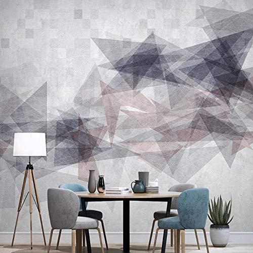 Papel tapiz geométrico abstracto moderno con foto 3D, decoración del hogar, sala de estar, sofá, TV, papel tapiz de fondo, papel tapiz Mural-350x256cm