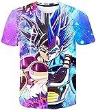 Camiseta Termica Niño Azul Camiseta Verano para Hombre Camiseta Anime 3Dt Camiseta Gráfica Tendencia Moda Camiseta Cómoda Cuello Redondo Manga Corta