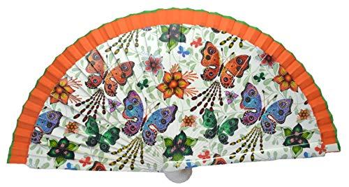 FN11 Diseño de mariposa Abanico flamenco español Abanico plegable Ventilador de mano Abanicos de bambú Abanico español Abanico de bailarines de flamenco