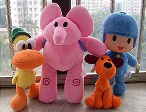 Wendingstan Pocoyo Plush 14cm-30cm Pocoyo Loula Elly Pato 4pcs Set Doll Stuffed Animals Soft Figure Anime Collection Toy