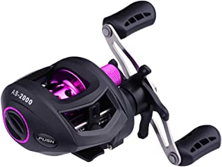 CLISPEED Carretel de Pesca 7: 1 Molinete de Pesca de Metal Roda Dianteira para Pesca Em Ãgua Doce de Ãgua Salgada Preto