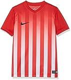 NIKE SS YTH Striped Division II JSY Camiseta, Niños, Rojo/B