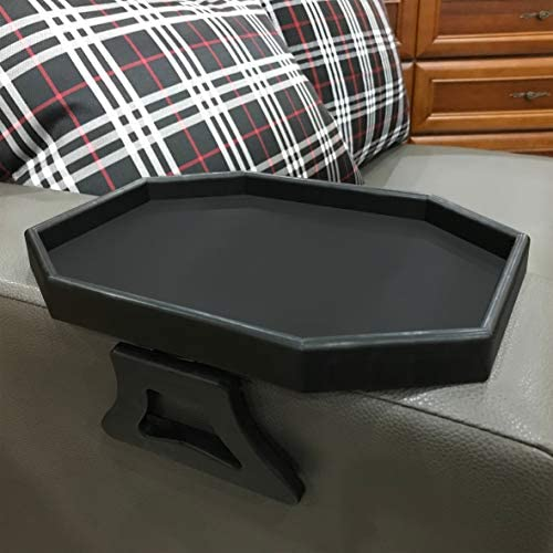 Forzaddik Side tables Sofa Armrest Clip On Table Recliner Armchair Organizer Tray Black product image