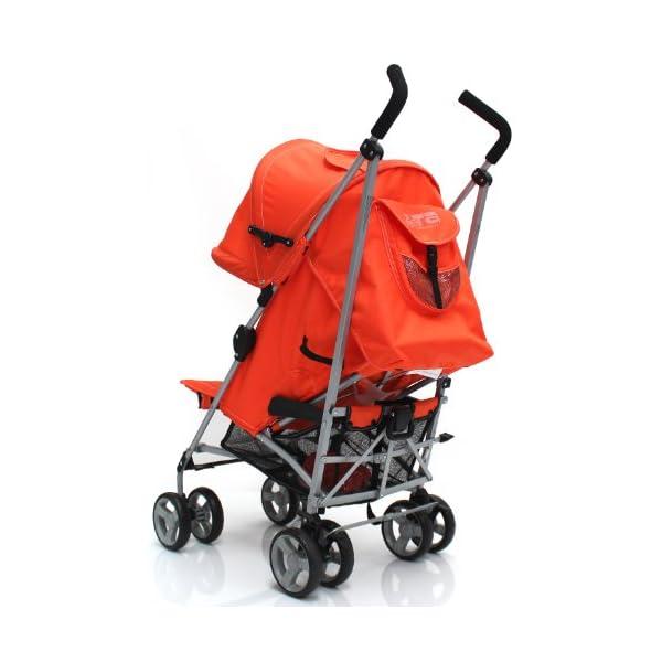 Zeta Vooom Stroller (Orange) ZETA Suitable From Birth Unique drop down privacy hood with parent window Complete with raincover 2