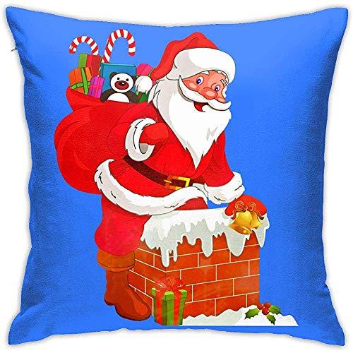 Pamela Hill Weiche dekorative quadratische Throw Pillow Covers Schornstein Santa Kissenbezüge Kissenbezüge für Sofa Schlafzimmer Auto 20 x 20 Zoll