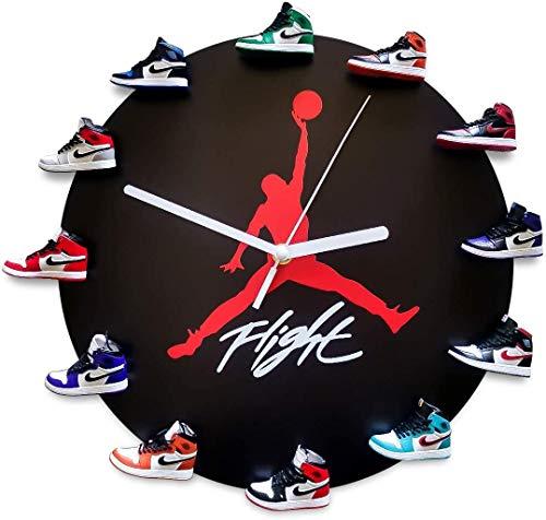 AKIGN Mini Schuhe Sneaker Wanduhr, 3D Mini Schuhe Sneaker Uhr und Uhr mit AirJordan Schuhe Sneaker Dunk LCE Creme WanduhrC