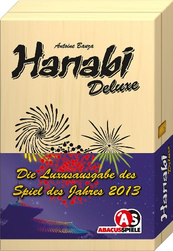 ABACUSSPIELE 04134 - Hanabi Deluxe, in einer Holzbox, Familienspiel, Legespiel