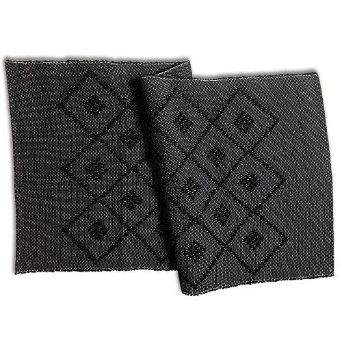 Craft Story Web-Teppich Pedro groß I Bad-Teppich I traditionell gewebt I Badematte I Bad-Vorleger schwarz I Bad-Läufer I handwerkliche Herstellung in Portugal I Hygge I ca. 70 x 140 cm