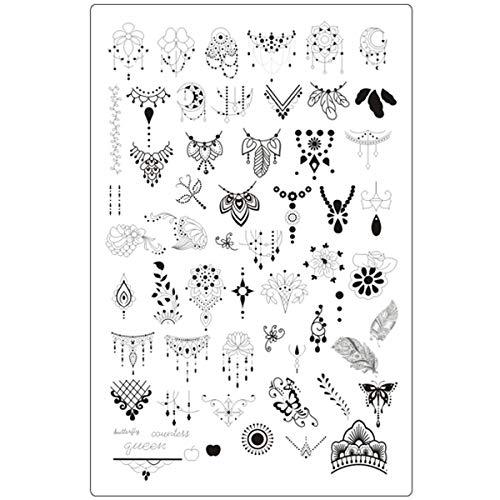 Lovenails XXL Mandala Stamping Schablone 3 I Traumfänger und Federn für tolle Nailart I Stempel Platte mit ausgefallenen Mustern
