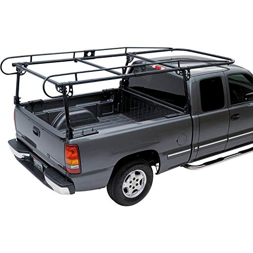 utility rack for trucks ECOTRIC Adjustable Full Size Truck Contractor Ladder Pickup Lumber Utility Kayak Rack(Notice:You Will Receive Two Packages for This Item)