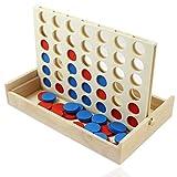 Smart Planet der Brettspiel Klassiker  Vier Gewinnt  Spiel , Spielsteine und Box aus Holz für Erwachsene und Kinder ab 4 Jahren