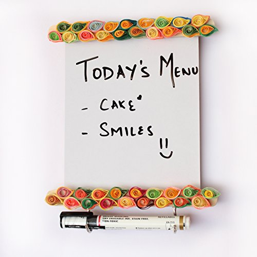 IVEI Wooden Paper Quilling Fridge to Do Magnet with Whiteboard