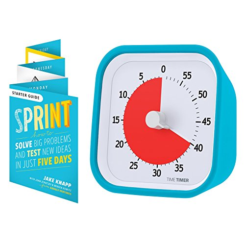 Time Timer MOD Sprint Edition — 60 Minute Visual Timer — For Kids Classroom Learning, Homeschool Tool, Teachers Desk Clock and Office Meetings (Sky Blue)