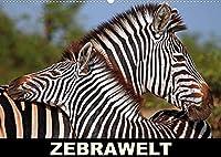 ZEBRAWELT (Wandkalender 2022 DIN A2 quer): Tierisch gestreift durch Afrika (Monatskalender, 14 Seiten )
