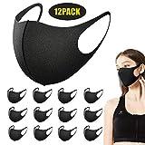 Redmoo Masken Mundschutz, 12 Stück Wiederverwendbare Mundschutzmasken, Anti-Staub-Maske,...