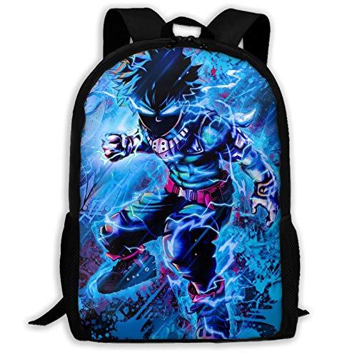 My Hero Academia Midoriya Izuku - Mochila de viaje ligera para la escuela al aire libre, mochila para la universidad, resistente al agua, mochila para computadora para niños y niñas