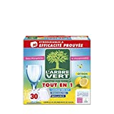 L'arbre vert Tablettes Lave-Vaisselle Citron Hydrosolubles Tout en 1 30 Doses 28705