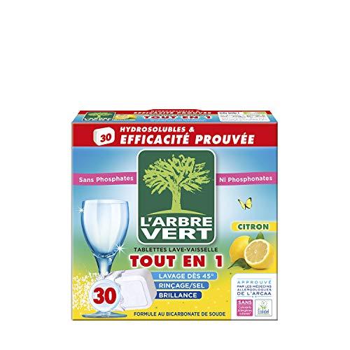 puissant L'arbre vert tablette lave-vaisselle tout-en-1 citron, 30 doses 28705