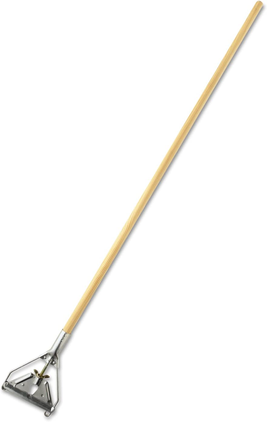 Rubbermaid Commercial H216 Gripper Hardwood Mop Handle 1 1//8 dia x 60 Natural//Yellow