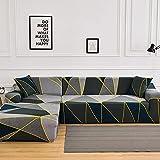 MKQB Funda de sofá con combinación de Esquina en Forma de L, Funda de sofá Antideslizante para la decoración del hogar, Sala de Estar, Funda de sofá de protección para Mascotas NO.4 Funda de Almohada
