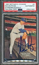 1990 Mother's Cookies #2 Nolan Ryan PSA/DNA Certified Authentic Autographed Signed 1562