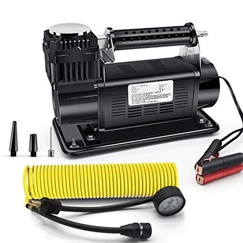 QIANDING KQCQB Große Auto Luftpumpe 12V High Power 60 Zylinder Luftdruck 16 Druck Vollmetall for große LKWs Luft Luftpumpe (Color : Black, Size : 34x15x23.5cm)