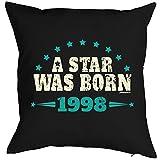 Geschenkidee zum 18 Geburtstag Kissen A star was born 1998 Polster zum 18. Geburtstag für...