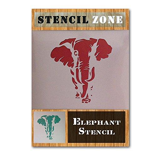 Elephant Animal Face Trunk Mylar Airbrush Malerei Wand-Kunst-Handwerk-Schablone 4 (A5 Größe Stencil - XSmall)