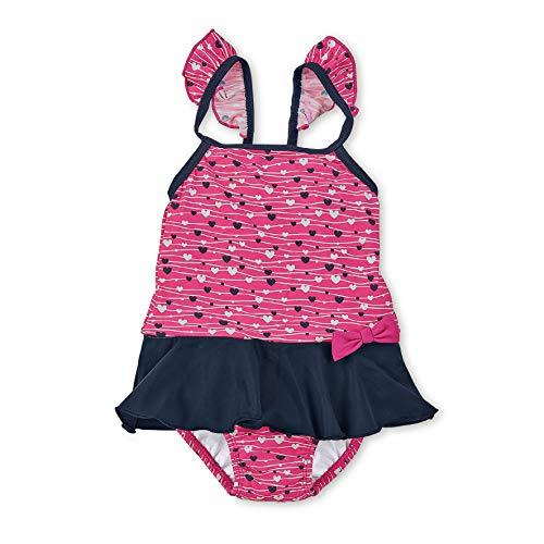 Sterntaler Mädchen Badeanzug, UV-Schutz 50+, Alter: 4 - 6 Jahre, Größe: 110/116, Farbe: Magenta