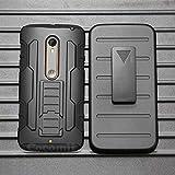 Cocomii Robot Armor Motorola Moto X Style/Moto X Pure Edition/Moto X3 Hülle NEU [Strapazierfähig] Gürtelclip Ständer Stoßfest [Heer Verteidiger] Case Schutzhülle for Moto X Style (R.Black)