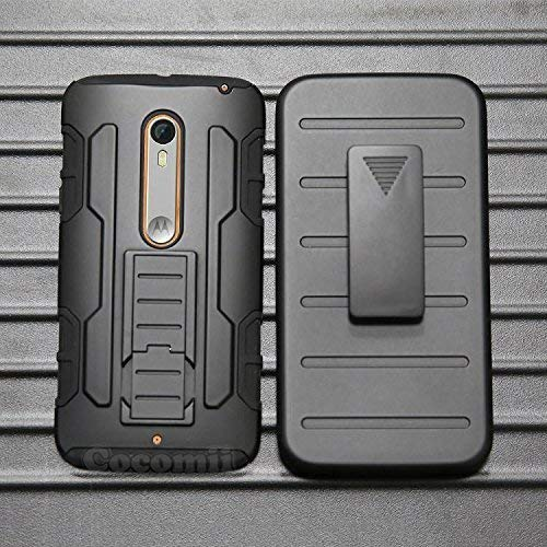 Cocomii Robot Belt Clip Holster Motorola Moto X Style/Moto X Pure Edition/Moto X3 Hülle, Schlank Matte Ständer Gürtelclip-Holster Case Bumper Cover for Motorola Moto X Style/Moto X Pure (Black)