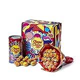 Chupa Chups Gift Box, Confezione Regalo con Flower Bouquet Chupa Chups da 19 Lollipop e Mini Latta Salvadanaio da 16 Lollipop, 35...