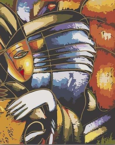 DAFFG DIY Ölgemälde Kits Hexe Schüchtern - Malen Nach Zahlen Für Erwachsene Anfänger Kreatives Gemälde Auf Leinwand Geschenk Für Erwachsene Kinder - 40X50Cm
