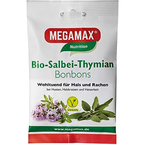 MEGAMAX Nutrition Bio-Salbei-Thymian Bonbons, 85 g Bonbons