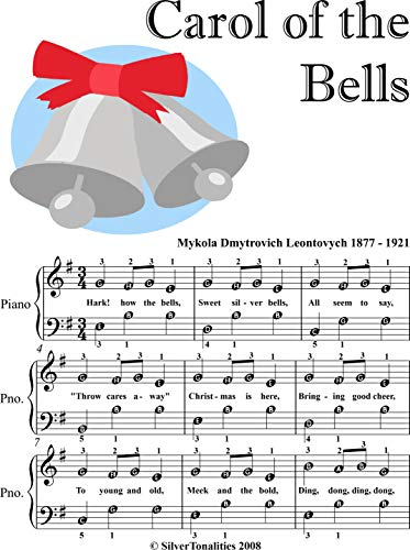 Carol of the Bells Easy Piano Sheet Music with Colored Notes (English Edition)