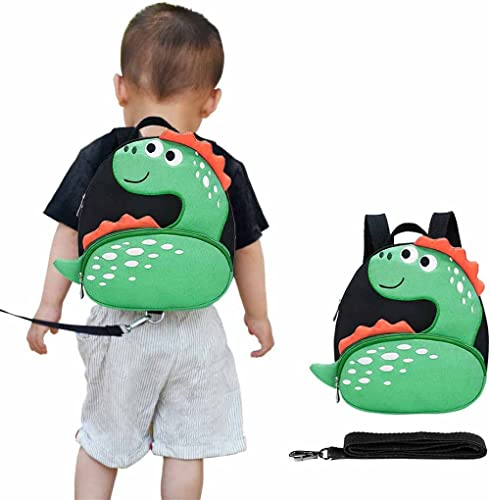 Toddler Backpack with Anti-Lost Harness Small Dinosaur Backpack Safety Leash for Boys and Girls Age 1-2 Years Old …