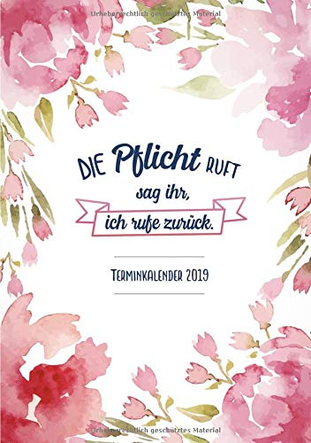 Terminkalender 2019: Dein Terminplaner und Kalender in A5 (ich rufe zurück) - Ziele setzten, Pläne machen und deinen Alltag Organisiere im neuen Jahr 2019