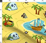 Landkarten, Schatz, Piraten, Jungen, Niedlich Stoffe -