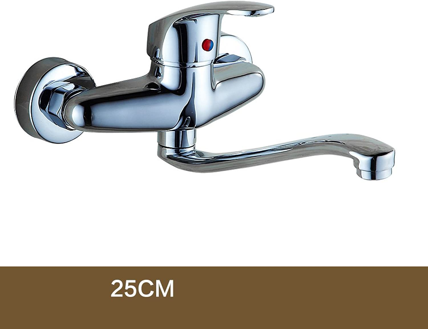 In-Wall Kitchen Hot & Cold Faucet Full Copper Body Balcony Laundry Basin Pool Basin Faucet Single Handle redatable (Size   25cm)