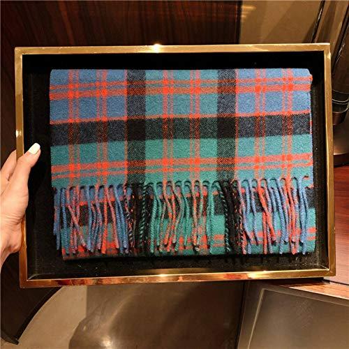 Bufanda a cuadros de Edimburgo Británico de Escocia de Edimburgo para hombre y mujer de invierno de lana nueva cachemir mantener caliente