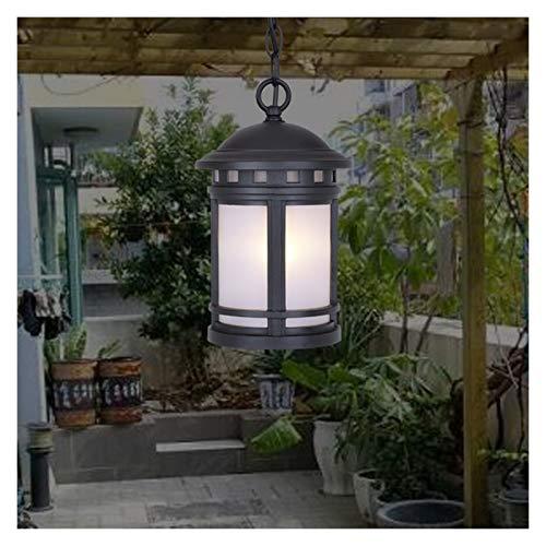 Accesorio de iluminación Al aire libre impermeable Colgante Luz Nordic Vintage Patio A prueba de agua Tradición de luz Victoria Linterna de techo Lámpara de techo Chandelier Metal Colgante Luz colgant
