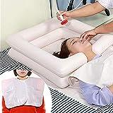 6er-Set Aufblasbare Haarwaschwanne mit Duschbeutel inkl, Aufblasbares Waschbecken für Behinderte, ältere, bettlägerige Patienten, Schwangere