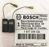 Echt Bosch Kohlebürsten 1617014134 für PBH 220 RE PBH 240 RE GBH 2-20 SRE GBH 2-24 DFR / DSR Bohrer 11221 DVS 11226 11228vs GBH2SR Bohrhammer S4G