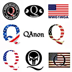 Amazing 9 pieces Q Shaped American Flag Sticker graffiti decals for Any Patriot. Perfect to personalize Laptops, Macbook, Skateboards, Luggage, Cars, Bumpers, Bikes, Bicycles, Bedroom, Travel Case, Bicycle, Motorcycle, Snowboard, PS4, XBOX ONE. High ...