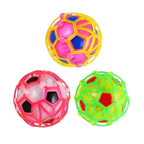 Pixnor Bunte Licht-Up selbst springender Ball blinkend tanzen Kinder Kind Fußball Spielzeug