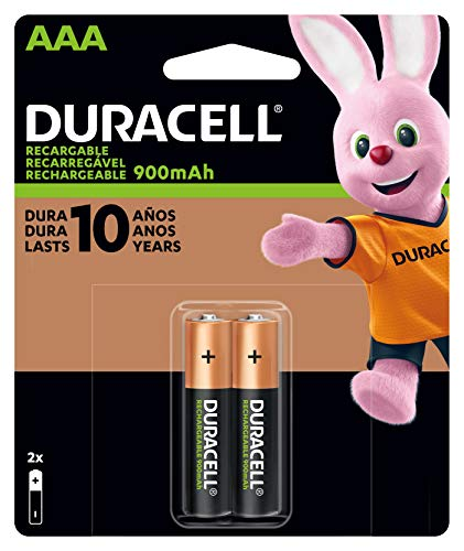 Duracell AAA Pilha Recarregável 900 mAh, 2 unidades